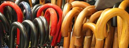 серия много ручек зонтика Стоковая Фотография