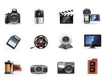 серия мультимедиа иконы glomelo Стоковое фото RF