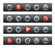 серия мультимедиа кнопки штанги Стоковая Фотография