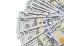 Серия 100 долларовых банкнот Стоковая Фотография RF