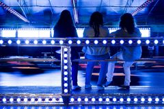 серия парка движения автомобилей бампера занятности Стоковые Фотографии RF