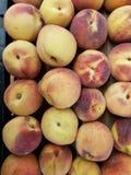 серия плодоовощей персика, текстурированной предпосылки Стоковые Фотографии RF