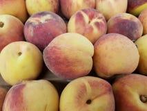 серия плодоовощей персика, текстурированной предпосылки Стоковая Фотография
