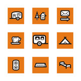 серия померанца иконы Стоковое Изображение RF