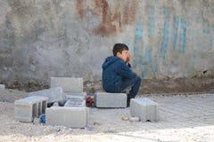 Серия портретов беженцев сирийца детей Стоковое фото RF