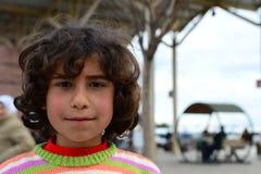 Серия портретов беженцев сирийца детей Стоковые Изображения