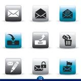 серия почты иконы Стоковые Фотографии RF