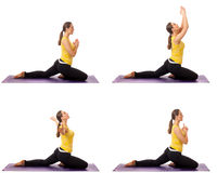 Серия представления йоги Стоковое Изображение