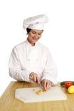 серия приготовления уроков еды шеф-повара Стоковые Фото