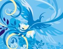 серия птицы предпосылки флористическая Стоковое Фото