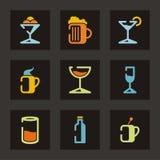серия ресторана иконы Стоковое Изображение RF