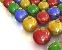 серия рождества шариков лоснистая глянцеватая Бесплатная Иллюстрация