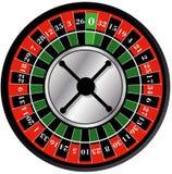 серия рулетки покера обломоков казино Стоковое Фото