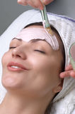 серия салона маски красотки лицевая Стоковая Фотография RF
