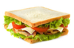 серия сандвича близкого старья изображения еды dof низкая вверх Стоковые Изображения