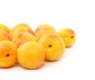 Серия свежих абрикосов Стоковые Изображения