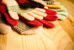 Серия связанных перчаток Стоковые Изображения RF
