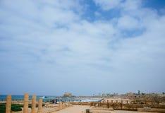 Серия Святой Земли - порт 4 Caesarea Стоковое фото RF