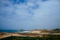 Серия Святой Земли - порт 3 Caesarea Стоковое Изображение RF