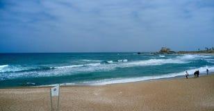 Серия Святой Земли - порт 2 Caesarea Стоковое Изображение RF