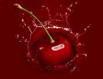 серия сока вишни падая Стоковые Изображения RF