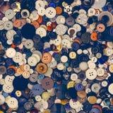 Серия старых винтажных кнопок Стоковое Фото