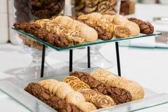 Серия таблицы различных печениь Стоковая Фотография
