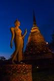 Серия Таиланда: Будда в Sukhothai Стоковое Изображение