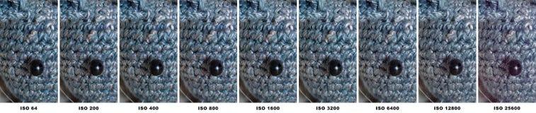 Серия теста ISO Olympus OM-D E-M1ii стоковые фотографии rf