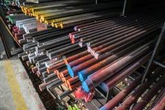 Серия труб различных размеров стальных Стоковое Изображение RF