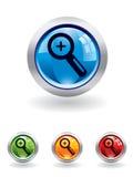 серия увеличителя кнопки бесплатная иллюстрация