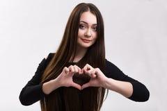 Серия украинской девушки - влюбленность эмоции Стоковые Изображения