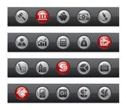 серия финансов кнопки дела штанги Стоковые Изображения RF
