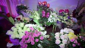 Серия цветков пуков для торжества сток-видео