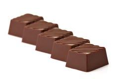 серия шоколадов Стоковая Фотография