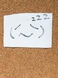 Серия японских смайликов вызвала Kaomoji, спать Стоковые Фото