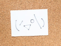 Серия японских смайликов вызвала Kaomoji, peeking Стоковая Фотография