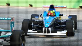 серия 2011 jk chang aaron Азии участвуя в гонке Стоковое фото RF