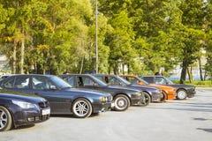 серия e34 BMW 5 Стар-автомобиля Стоковое Изображение RF