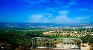Серия Holyland - более низкая Галилея Panorama#2 Стоковая Фотография