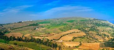 Серия Holyland - панорама ландшафта Галилеи стоковое изображение