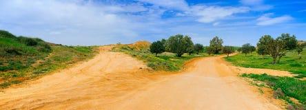 Серия Holyland - панорама дороги пустыни Стоковая Фотография RF