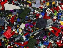 Серия LEGO разделяет яркие цвета Стоковое Изображение RF