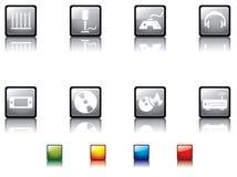 серия no5 кнопки лоснистая иллюстрация вектора