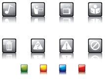 серия no6 кнопки лоснистая иллюстрация вектора