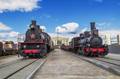 Серия Ov и EHu локомотивов пара в музее Стоковое фото RF