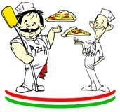 серия pizzaioli пиццы работы Стоковые Фотографии RF