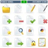 серия robico икон документа Стоковые Изображения