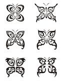 Серия Tattoo бабочки Стоковое Изображение