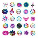 Серия Wi fi логотипов вектора Стоковое Изображение RF